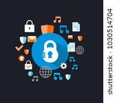 padlock logo background | Shutterstock .eps vector #1030514704