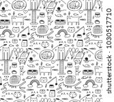 pattern with line hand drawn... | Shutterstock .eps vector #1030517710
