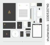corporate identity  stationery... | Shutterstock .eps vector #1030520740