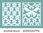 die and laser cut ornate lace... | Shutterstock .eps vector #1030520794
