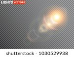 vector transparent sunlight... | Shutterstock .eps vector #1030529938
