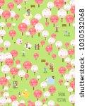 spring flower festival | Shutterstock .eps vector #1030532068