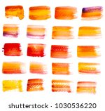 collection of watercolor hand... | Shutterstock . vector #1030536220
