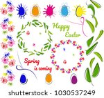 collection of decorative... | Shutterstock .eps vector #1030537249