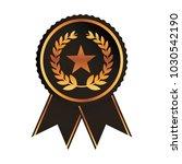 award ribbon gold black medal... | Shutterstock .eps vector #1030542190