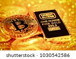 suisse bank golden one ounce... | Shutterstock . vector #1030542586