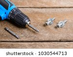 Close up electric screwdriver ...