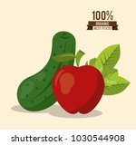 colorful poster of organic best ... | Shutterstock .eps vector #1030544908