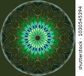 Blue Green Mandala Abstract Ar...