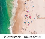 top down view of a beach in rio ... | Shutterstock . vector #1030552903