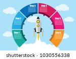 vector infographic circle with... | Shutterstock .eps vector #1030556338