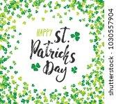 happy st patrick's day vintage... | Shutterstock .eps vector #1030557904