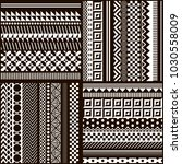 set geometric vector ornaments... | Shutterstock .eps vector #1030558009
