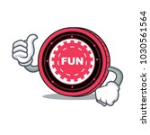 thumbs up funfair coin... | Shutterstock .eps vector #1030561564