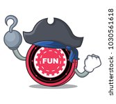 pirate funfair coin character... | Shutterstock .eps vector #1030561618
