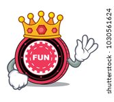 king funfair coin mascot cartoon | Shutterstock .eps vector #1030561624