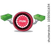 with money funfair coin mascot... | Shutterstock .eps vector #1030561654