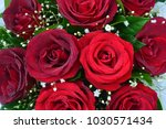 bouquet of fresh roses  flower... | Shutterstock . vector #1030571434