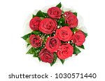bouquet of fresh roses  flower... | Shutterstock . vector #1030571440