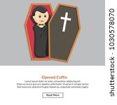 opened coffin job information | Shutterstock .eps vector #1030578070
