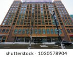 Small photo of CHICAGO, IL -12 FEB 2018- View of 520 S. State Street a residential condominium midrise building in the Loop neighborhood of Chicago.