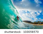 body boarder surfing blue ocean ... | Shutterstock . vector #103058570