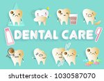 tooth with different emoji on... | Shutterstock .eps vector #1030587070
