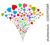 multi colored love heart... | Shutterstock .eps vector #1030595089