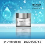vector cosmetic product poster  ... | Shutterstock .eps vector #1030600768