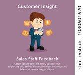 customer insight sales staff... | Shutterstock .eps vector #1030601620