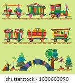 kid vector train railroad baby... | Shutterstock .eps vector #1030603090