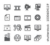 video content icon set | Shutterstock .eps vector #1030604119