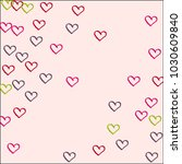colored hearts on a pink... | Shutterstock .eps vector #1030609840