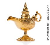 Aladdin Magic Lamp Isolated On...