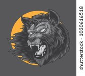 werewolf monster vector... | Shutterstock .eps vector #1030616518