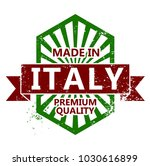 made in italy stamp | Shutterstock .eps vector #1030616899
