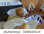 asian elder man sick and lay on ... | Shutterstock . vector #1030624114