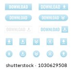 download buttons set | Shutterstock .eps vector #1030629508