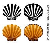 vector sea shells | Shutterstock .eps vector #103063106