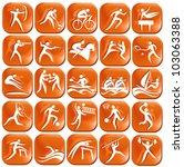set os orange sport icons   Shutterstock .eps vector #103063388