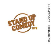 stand up comedy neon sign lamp... | Shutterstock .eps vector #1030634944