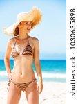 blue sea  white sand paradise.... | Shutterstock . vector #1030635898