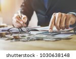 accountant working in office.... | Shutterstock . vector #1030638148