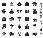 solid black vector icon set  ... | Shutterstock .eps vector #1030648678