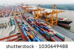 logistics and transportation of ... | Shutterstock . vector #1030649488