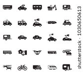 solid black vector icon set  ... | Shutterstock .eps vector #1030650613