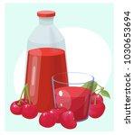 cherry  vector illustration | Shutterstock .eps vector #1030653694