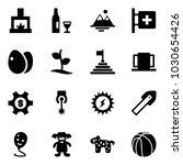 solid vector icon set  ... | Shutterstock .eps vector #1030654426