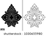 thai painting style vector... | Shutterstock .eps vector #1030655980