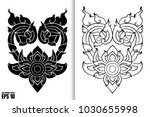 thai painting style vector... | Shutterstock .eps vector #1030655998